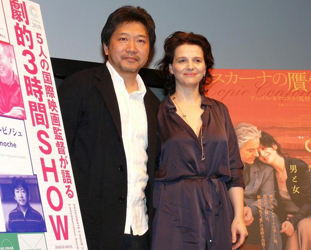 ジュリエット・ビノシュ、是枝裕和監督との映画製作に前向き