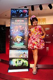香港国際映画祭に出席したはるな愛「豆富小僧」