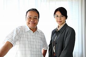 映画に出演する竹内結子と西田敏行「はやぶさ HAYABUSA」