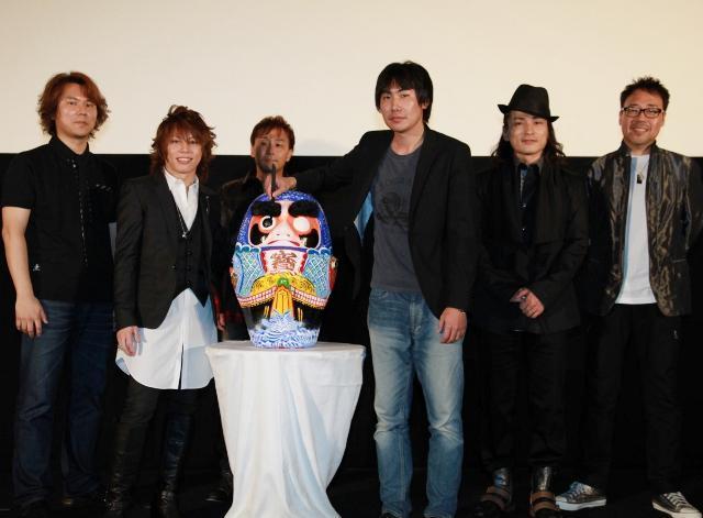 (左から):小林裕幸氏、西川 石野竜三、野村和也監督、森田成一、大川透