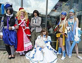 「JAPAN EXPO」でコスプレ姿を披露するフランス人の若者「イキガミ」