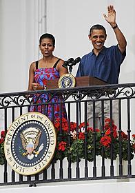 ホワイトハウスで独立記念日を祝ったオバマ大統領