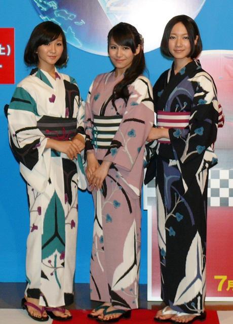 Perfume、浴衣で美脚封印 「カーズ2」ジャパンプレミア