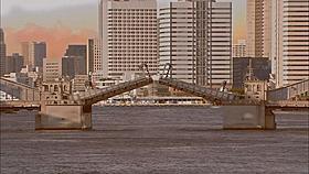 「こち亀」で使われる「勝どき橋」の開閉CG「こちら葛飾区亀有公園前派出所」