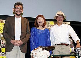 (左から)庵野秀明、矢野顕子、平野勝之監督「監督失格」