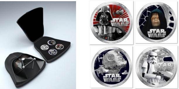 「スター・ウォーズ」硬貨、NZ造幣局が鋳造 島国ニウエでは法定通貨に