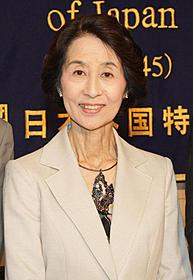 FIAF賞受賞会見に出席した 香川京子「近松物語」