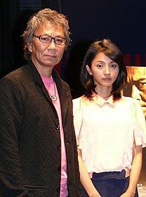トークイベントを行った三池崇史監督と満島ひかり「一命」