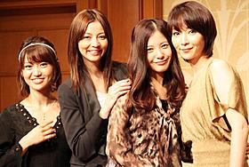 「私が恋愛できない理由」制作会見に出席した(左から) 大島優子、香里奈、吉高由里子、稲森いずみ