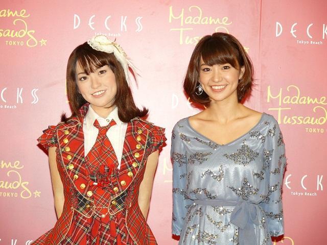 AKB48大島優子、似すぎて「怖い」本人等身大フィギュアと初対面