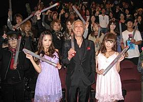 真夜中の新宿で行われた「ハードロマンチッカー」試写会「ハードロマンチッカー」