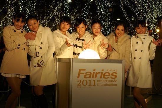 Fairies大感激! 表参道イルミ史上初のイメージキャラ