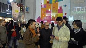 最新作「CUT」の街頭プロモーションを行った アミール・ナデリ監督「CUT」
