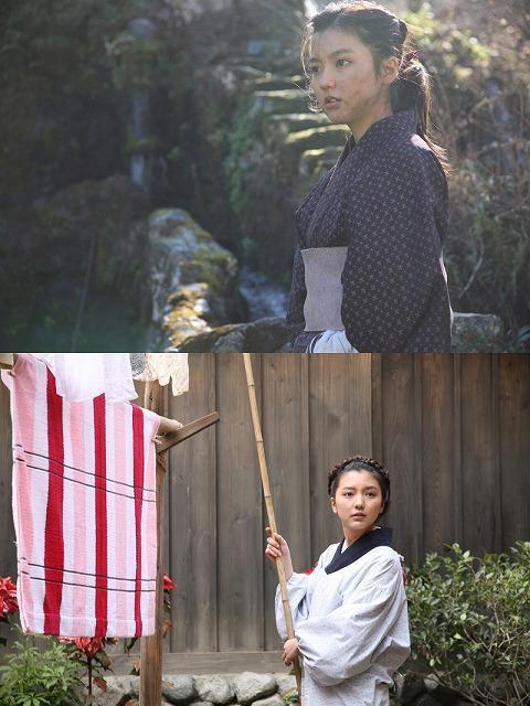 真野恵里菜が方言女子に かっぽう着がまぶしいお手伝いさん姿公開