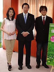 田中麗奈、農林水産省を訪問「種まく旅人 みのりの茶」