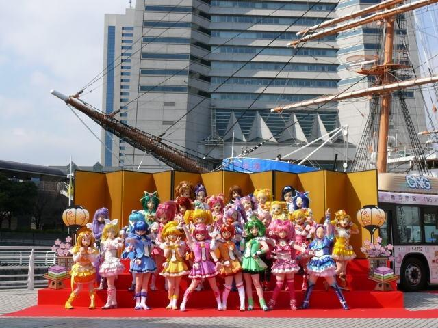 プリキュア28人がみなとみらいに大集合!横浜市とのタイアップが始動