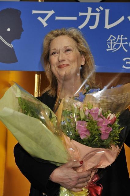 M・ストリープ、3年ぶり来日 2度目の主演女優賞は「頭が真っ白」