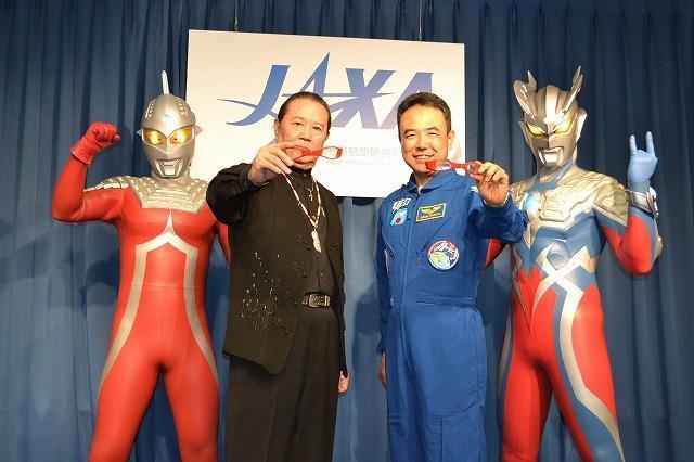 宇宙飛行士・古川聡氏、あこがれのウルトラセブンとご対面