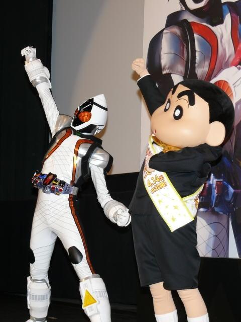 しんちゃん「ヒーロー大戦」初日に乱入!フォーゼと一緒に「宇宙キター!」