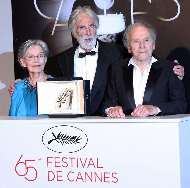 カンヌ・パルムドールはハネケ監督作に栄冠 ハリウッド勢は無冠