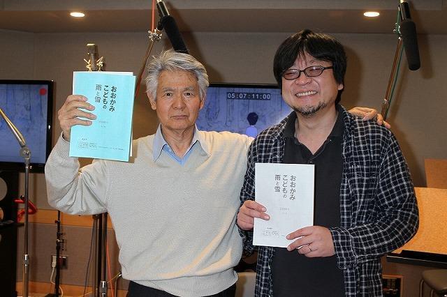 アフレコを行った菅原文太と細田守監督