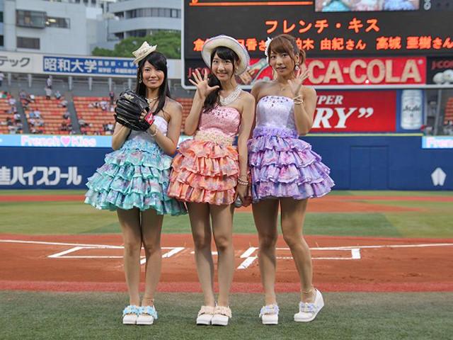 「フレンチ・キス」倉持明日香、2年ぶり始球式も後悔しきり