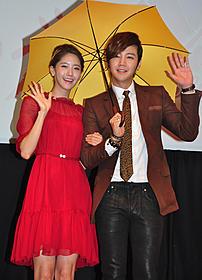ドラマ「ラブレイン」で共演した 「少女時代」ユナとチャン・グンソク