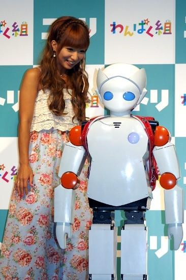 2足歩行ロボットに感心の辻希美