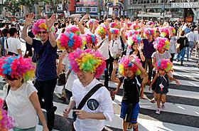 渋谷で行われた「マダガスカル3」ヒットパレードの様子「マダガスカル3」