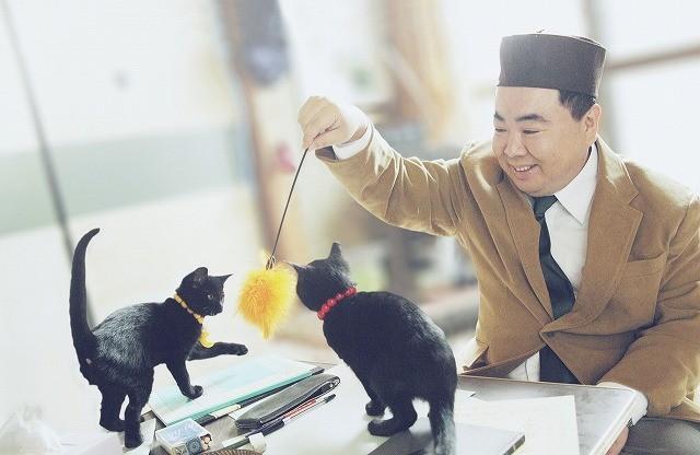 塚地武雅が子ネコ2匹と占い稼業に精を出す「くろねこルーシー」予告編公開