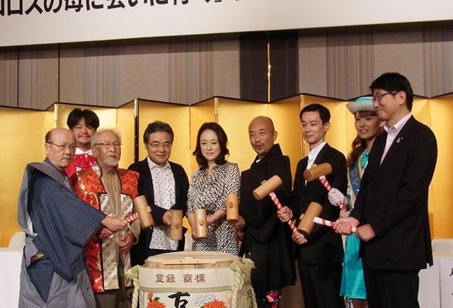 岩松了、加瀬亮、森崎東監督らロケ地・長崎で「ペコロス」製作を発表