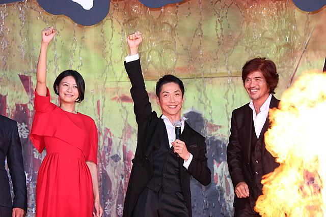 野村萬斎「のぼうの城」1年越しの公開に感無量 ド派手プレミアでいざ出陣!