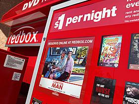DVDレンタルの自動販売機レッドボックス