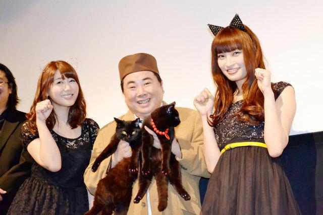 """安めぐみと大政絢は""""黒猫ファッション""""で登場"""