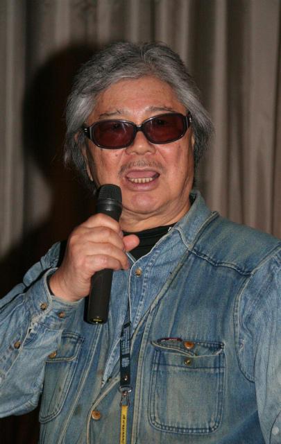 「海燕ホテル・ブルー」舞台挨拶に登壇した若松孝二さん (2012年3月撮影)