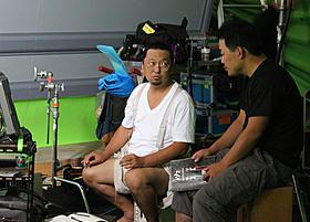 撮影に臨んだ村上隆監督「めめめのくらげ」
