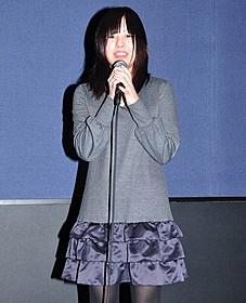 舞台挨拶に飛び入り参加した池田愛「ももいろそらを」