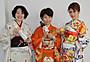 興収20億越え確実!「東京家族」女性宣伝マン、着物姿で大ヒット御礼行脚