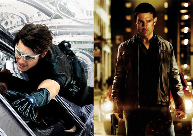 「M:I」シリーズのハント(左)と「アウトロー」のリーチャー(右)
