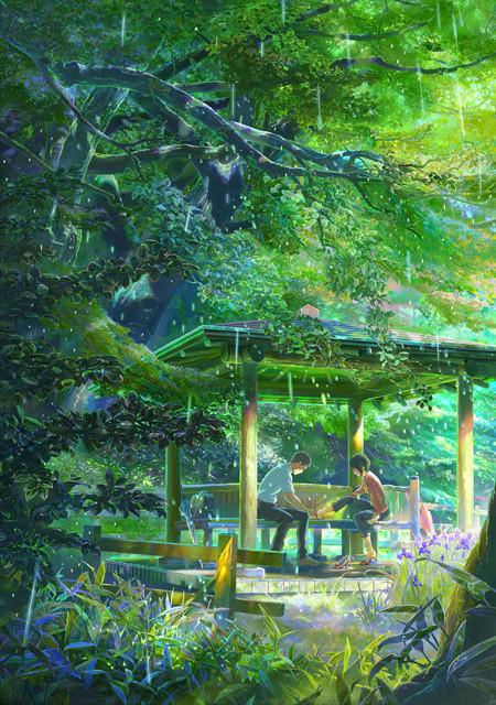新海誠監督「言の葉の庭」声優は入野自由&花澤香菜 秦基博は「Rain」カバー