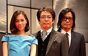 「プラチナデータ」に出演する水原希子、生瀬勝久、豊川悦司「プラチナデータ」