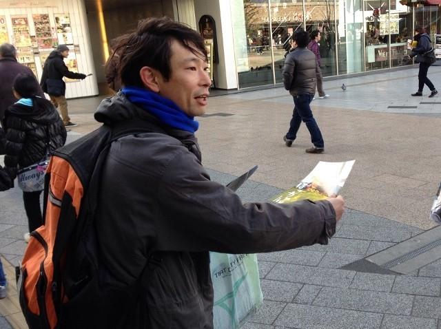 水澤紳吾&宇野祥平が秋葉原で街頭宣伝!映画「ぼっちゃん」をアピール