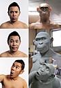 ナイナイ岡村、猿人復元の学術モデルに 国立科学博物館で展示