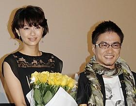 舞台挨拶に登壇した榮倉奈々と乙武洋匡氏「だいじょうぶ3組」