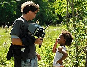 クワベンジャネ・ウォレスちゃんとの撮影風景「ハッシュパピー バスタブ島の少女」