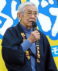 「釣りバカ日誌19」イベントに出席した三國連太郎さん (2008年10月撮影)「釣りバカ日誌」