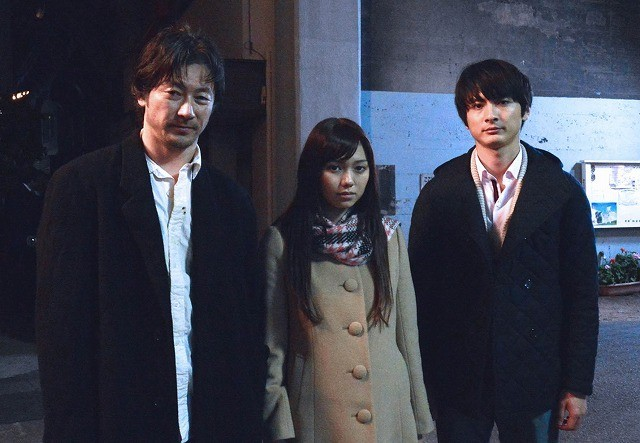 「私の男」に出演する(左から) 浅野忠信、二階堂ふみ、高良健吾