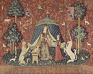 タピスリー《貴婦人と一角獣「我が唯一の望み」》、1500年頃、フランス国立クリュニー中世美術館蔵