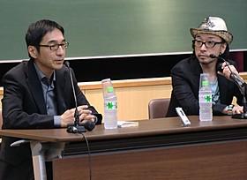 「うたかたの日々」について語った野崎歓(左)と菊地成孔「うたかたの日々」