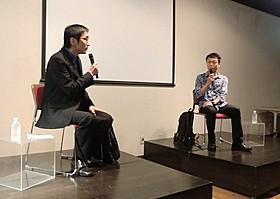 「うたかたの日々」を語った野崎歓氏(左)と中条省平氏「うたかたの日々」